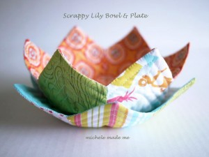 Scrappy Lily Bowl and Plate Michele Made Me